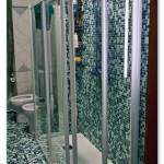 Trasformazione di una vasca in doccia con piatto doccia 140x70 in Resitec, una resina tecnica molto leggera e resistente.